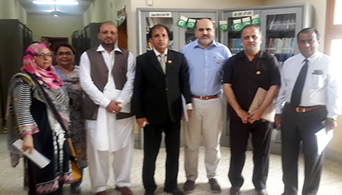 Dr. Fakhar paid visit to University of Sindh, Jamshoro