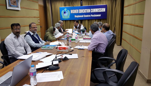 HEC Social Sciences Committees on Journals and book recognition meet Peshawar Regional Centre